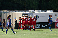 Seattle, WA - Saturday August 26, 2017: Portland Thorns FC, Hayley Raso during a regular season National Women's Soccer League (NWSL) match between the Seattle Reign FC and the Portland Thorns FC at Memorial Stadium.