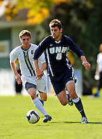 15 October 2008: University of New Hampshire Wildcats' forward Joe Annese, a Junior from Attleboro, Mass., in action against the University of Vermont Catamounts at Centennial Field, in Burlington, Vermont. The Wildcats and Catamounts battled in overtime to a 0-0 tie...Mandatory Photo Credit: Ed Wolfstein Photo