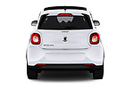 Straight rear view of a 2018 Smart forfour Passion 5 Door Hatchback stock images
