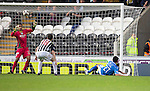 St Mirren v St Johnstone...19.10.13      SPFL<br /> Rory Fallon makes it 3-3<br /> Picture by Graeme Hart.<br /> Copyright Perthshire Picture Agency<br /> Tel: 01738 623350  Mobile: 07990 594431