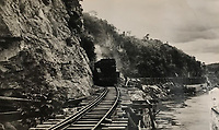 BNPS.co.uk (01202) 558833<br /> Pic: Tennants/BNPS<br /> <br /> The notorious 'Death Railway' along the River Kwai in Burma built by the POW's.<br /> <br /> A British prisoner of war's drawings and photographs of the building of the notorious 'Death Railway' in Burma have sold for £5,000.<br /> <br /> Captain Harry Witheford's accomplished sketches highlight the horrific ordeal endured by the captured soldiers at the hands of their Japanese captors in World War Two.<br /> <br /> The so-called Death Railway along the River Kwai claimed the lives of 12,000 Allied PoWs who were subjected to forced labour during its construction.