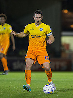 Matt Bloomfield of Wycombe Wanderers in action during the Johnstone's Paint Trophy match between Bristol Rovers and Wycombe Wanderers at the Memorial Stadium, Bristol, England on 6 October 2015. Photo by Andy Rowland.