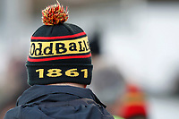 An Oddballs hat in the colours of Richmond Rugby during the English National League match between Richmond and Blackheath  at Richmond Athletic Ground, Richmond, United Kingdom on 4 January 2020. Photo by Carlton Myrie.