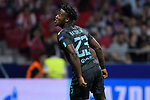 Michy Batshuayi of Chelsea FC celebrates during the UEFA Champions League 2017-18 match between Atletico de Madrid and Chelsea FC at the Wanda Metropolitano on 27 September 2017, in Madrid, Spain. Photo by Diego Gonzalez / Power Sport Images
