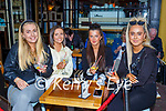 Miriam Fleming, Leona Browne, Emma Griffin and Andrea O'Donoghue catching up at Reidy's bar Killarney Saturday evening