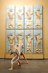 STELES  ....Choregraphie : LAMOUREUX Eric FATOUMI Hela..Compagnie : Centre National Choregraphique de Caen Basse Normandie..Decor : ..Costumes : LAFAY Maryline..Avec :..Etudiants danseurs du CNSMDP..BARANGE Anne Charlotte..FAHMY Hajiba..GRACH Emmanuelle..DECLOITRE Sylvain..GLACHANT Sacha..JAUBERT Caroline..VIALLEFOND Lucas..PARENT Manon..RASTOUIL Marion..CHARRIER Aurelien..PAYEN Guyaume..SERIOT Paul..BIDEGRAIN Sylvia..Interpretes Compagnie Fatoumi Lamoureux :..ZIANE Moustapha..PALMER Loren..ROUAIRE Philippe..NZABA Orchy..SIMI Laura..CHESNAIS Marine..KOLASSA Sandrine..Musiciens :..CHEVAUCHER Dominique..CORNELOUP Francois..HABALI Karim..FOCH Philippe..Nocturnes du Louvre..Lieu : Musee du Louvre..Ville : Paris..Le : 11 02 2009..© Laurent Paillier / www.photosdedanse.com..All rights reserved