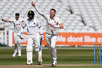 Peter Siddle of Essex appeals for a wicket during Warwickshire CCC vs Essex CCC, LV Insurance County Championship Group 1 Cricket at Edgbaston Stadium on 23rd April 2021