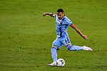 Alexander Callens of New York City FC (USA) vs Tigres UANL (MEX) during their Scotiabank Concacaf Champions League Quarter Finals match at the Orlando's Exploria Stadium on 15 December 2020, in Florida. Photo by Victor Fraile / Power Sport Images