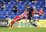 Ross County v St Johnstone…31.07.21  Global Energy Stadium<br />Blair Spittal drags Callum Hendry to the ground<br />Picture by Graeme Hart.<br />Copyright Perthshire Picture Agency<br />Tel: 01738 623350  Mobile: 07990 594431
