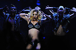 Lady Gaga perfoms for the crowd at the Palace of Auburn Hills, Mich., Saturday, Sept. 4, 2010.  (Special to The Oakland Press/Jose Juarez)