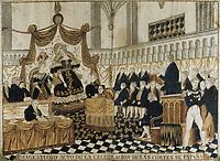 Spain (19th c.). María Cristina's regency. Majestic celebration of Cortes in Spain. SPAIN. Madrid. Municipal Museum.