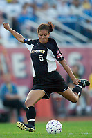 Shannon Boxx of the Power. The Atlanta Beat and the NY Power played to a 1-1 tie on 7/26/03 at Mitchel Athletic Complex, Uniondale, NY.