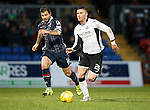 Ross County v St Johnstone...05.12.15  SPFL  Dingwall<br /> Michael O'Halloran and Richie Foster<br /> Picture by Graeme Hart.<br /> Copyright Perthshire Picture Agency<br /> Tel: 01738 623350  Mobile: 07990 594431