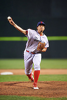 Reading Fightin Phils relief pitcher Miguel Nunez (36) during a game against the Portland Sea Dogs on May 31, 2016 at Hadlock Field in Portland, Maine.  Reading defeated Portland 6-4.  (Mike Janes/Four Seam Images)