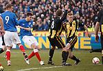 Sebastien Faure scores the third goal for Rangers