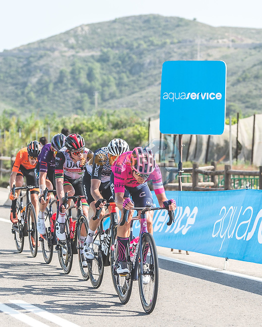 The breakaway led by Magnus Cort Nielsen (DEN) EF Education-Nippo during Stage 6 of La Vuelta d'Espana 2021, running 158.3km from Requena to Alto de la Montaña Cullera, Spain. 19th August 2021.    <br /> Picture: Cxcling | Cyclefile<br /> <br /> All photos usage must carry mandatory copyright credit (© Cyclefile | Cxcling)