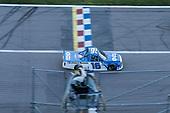 #16: Austin Hill, Hattori Racing Enterprises, United Rentals Toyota Tundra takes the checkered flag