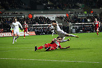 League Cup Quarter Final, Swansea V Middlesbrough, Liberty Stadium, 12/12/12<br /> Picture by: Ben Wyeth<br /> Pictured: (L-R) Michu, Ki Sung-Yueng.<br /> Athena Picture Agency