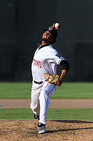 Wisconsin Timber Rattlers pitcher Cristian Sierra (31) delivers a pitch during a game against the West Michigan Whitecaps on May 22, 2021 at Neuroscience Group Field at Fox Cities Stadium in Grand Chute, Wisconsin.  (Brad Krause/Four Seam Images)