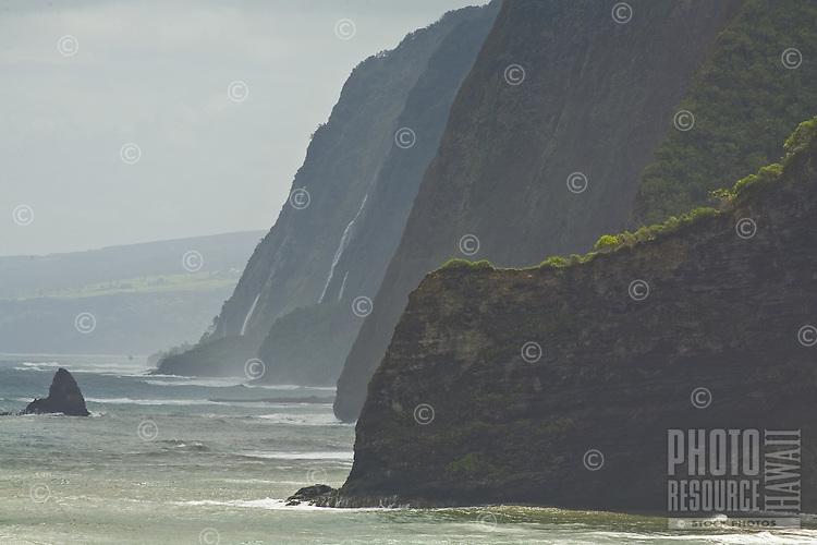 Coastline near Pololu Valley on the Big Island of Hawaii