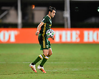 LAKE BUENA VISTA, FL - JULY 18: Diego Valeri #8 of the Portland Timbers settles the ball during a game between Houston Dynamo and Portland Timbers at ESPN Wide World of Sports on July 18, 2020 in Lake Buena Vista, Florida.