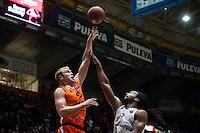 VALENCIA, SPAIN - NOVEMBER 18: Luke Sikma, Randal Falker during EUROCUP match between Valencia Basket Club and CAI SLUC Nancy at Fonteta Stadium on November 18, 2015 in Valencia, Spain