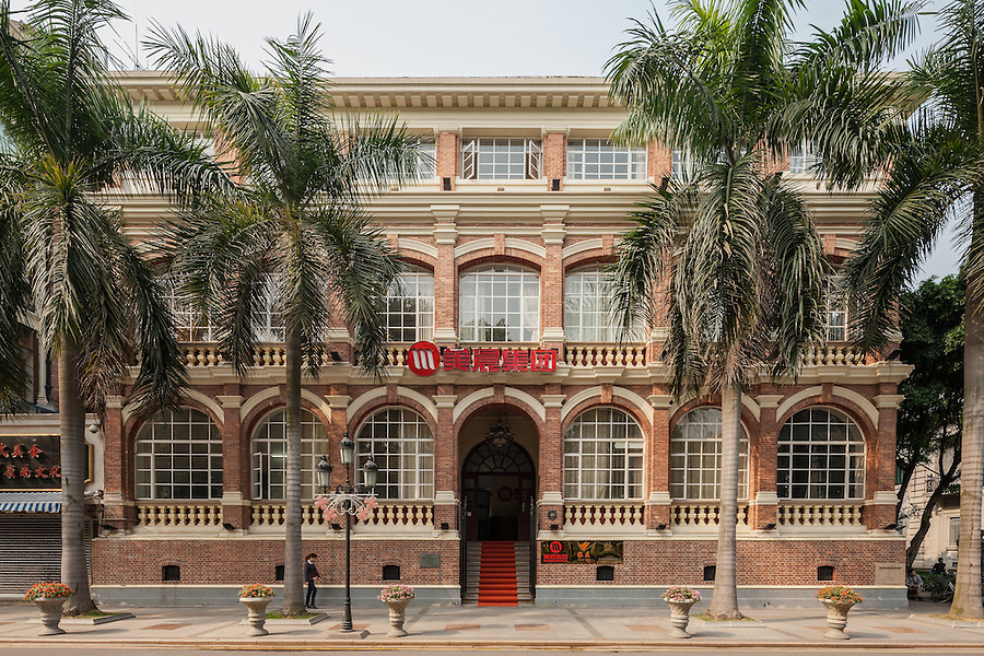Butterfield & Swire's Office Building At No. 48 South Street, Shamian (Shameen) Island, Guangzhou (Canton). Built In 1881 With Two Floors, The Third Was Added In The Early 1900's.