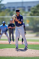 Minnesota Twins pitcher Tyler Benninghoff (44) during a Minor League Spring Training game against the Tampa Bay Rays on March 17, 2018 at CenturyLink Sports Complex in Fort Myers, Florida.  (Mike Janes/Four Seam Images)
