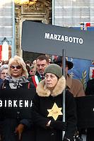 """- """"Day of the Memory,"""" demonstration of the ex deported in the Nazi concentration camps....- """"Giorno della Memoria"""", manifestazione degli ex deportati nei campi di concentramento nazisti"""