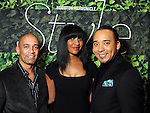 From left: Reggie Barnes, Cicely Reid and Brandon McClendon at the Houston Chronicle's Best Dressed Announcement Party at Neiman Marcus Wednesday Jan. 30, 2013.(Dave Rossman/ For the Chronicle)