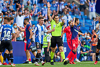 12th September 2021: Barcelona, Spain:  Goal is disallowed after VAR during the Liga match between RCD Espanyol and Atletico de Madrid at RCDE Stadium in Cornella, Spain.