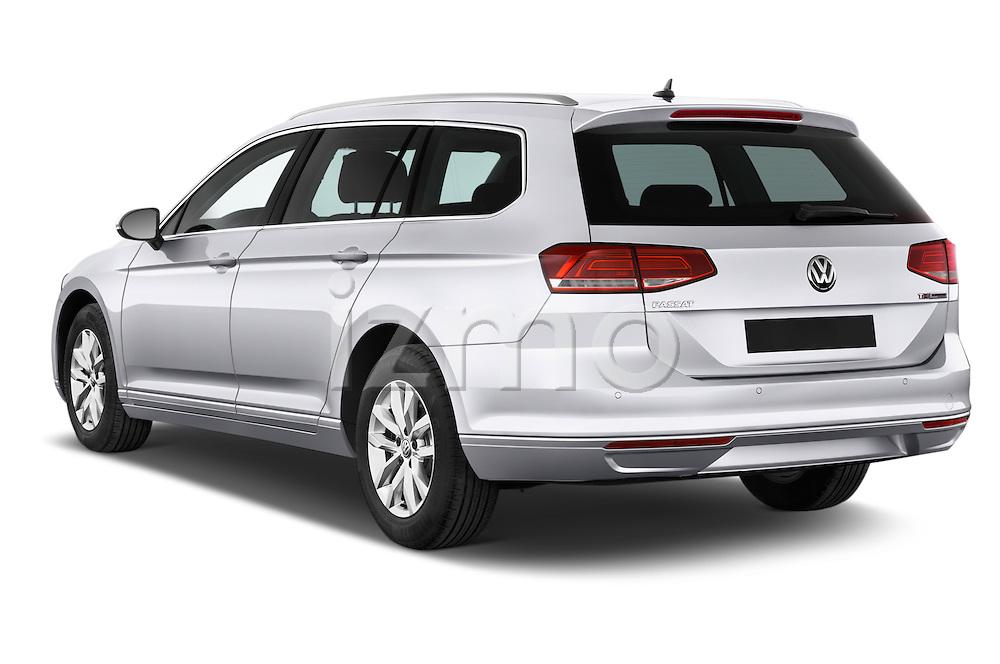 Car pictures of rear three quarter view of a 2015 Volkswagen Passat Comfort 5 Door Wagon Angular Rear