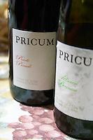 prieto picudo albarin Pricum bottle Bodegas Margon , DO Tierra de Leon , restaurant Imprenta Casado, Leon spain castile and leon