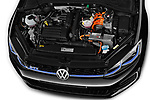 Car stock 2018 Volkswagen Golf GTE Base 5 Door Hatchback engine high angle detail view