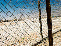 We are surrounded by iron fences.