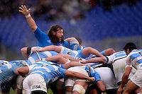 Martin Castrogiovanni Italia<br /> Roma 23-11-2013, Stadio Olimpico. Cariparma Rugby Test Match - Italia vs Argentina - Foto Antonietta BaldassarreInsidefoto
