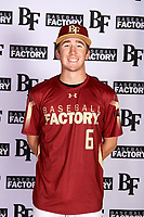 Bailey Scroggin (6) of Basha High School in Gilbert, Arizona during the Baseball Factory All-America Pre-Season Tournament, powered by Under Armour, on January 12, 2018 at Sloan Park Complex in Mesa, Arizona.  (Mike Janes/Four Seam Images)