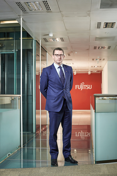 171003 Photograph © John Angerson<br /> Duncan Tait, Executive Officer, SEVP and head of Americas and EMEIA at Fujitsu Baker Street, London UK.<br /> HIGH RES