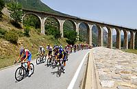 11th July 2021, Ceret, Pyrénées-Orientales, France; Tour de France cycling tour, stage 15, Ceret to  Andorre-La-Vieille;   Illustration picture of the riders during stage 15 of the 108th edition of the 2021 Tour de France cycling race, a stage of 191,3 kms between Ceret and Andorre-La-Vieille