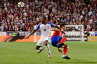 Harrison, NJ - Friday Sept. 01, 2017: Darlington Nagbe, Johnny Acosta during a 2017 FIFA World Cup Qualifier between the United States (USA) and Costa Rica (CRC) at Red Bull Arena.