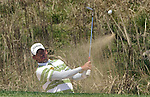 JEJU, SOUTH KOREA - APRIL 24:  Pablo Larrazabal of Spain plays a bunker shot on the 12th hole during the Round Two of the Ballantine's Championship at Pinx Golf Club on April 24, 2010 in Jeju island, South Korea.  Photo by Victor Fraile / The Power of Sport Images