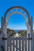 Gate to the beach, Provincetown, Cape Cod, Massachusetts, USA.