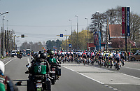 backside of the peloton<br /> <br /> 76th Dwars door Vlaanderen 2021 (MEN1.UWT)<br /> 1 day race from Roeselare to Waregem (184km)<br /> <br /> ©kramon