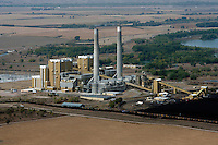 aerial photograph coal fired power plant Nebraska
