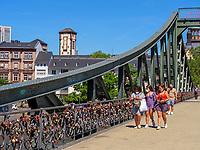 Brücke Eiserner Steg in Frankfurt, Hessen, Deutschland, Europa<br /> bridge Eiserner Steg in Frankfurt, Hesse, Germany, Europe