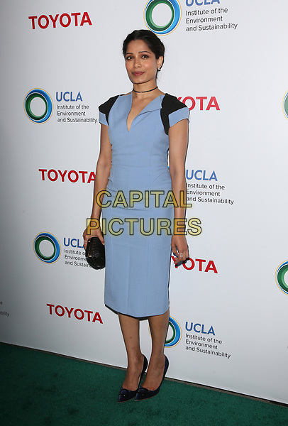 BEVERLY HILLS, CA - March 13: Freida Pinto, At The UCLA Institute Of The Environment And Sustainability Celebrates Innovators For A Healthy Planet At Private Resident In California on March 13, 2017. <br /> CAP/MPI/FS<br /> ©FS/MPI/Capital Pictures