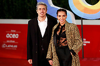 The Italian tv host, writer and film director Pif (Pierfrancesco Diliberto) with his new partner (whose name is still unknown) poses for photographers on the red carpet of the 15th edition of Rome film Fest.<br /> Rome (Italy), October 15th 2020<br /> Photo Samantha Zucchi Insidefoto