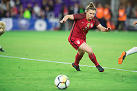 Orlando, FL - Wednesday March 07, 2018: Savannah McCaskill during the She Believes Final Cup Match featuring USA Women's National Team vs. Englands Women's National Team
