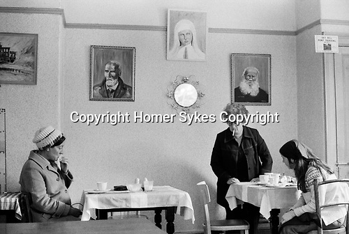 Douglas, Isle of Man 1970s. Cafe interior  1978