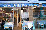 Exterior, Sign, Ciao Bella Restaurant, Covent Garden, London, Great Britain, Europe